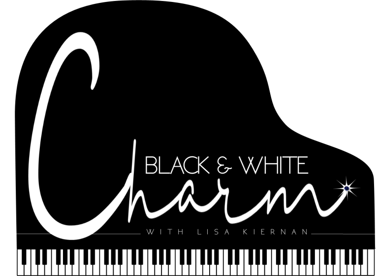 Black and White Charm Logo Full